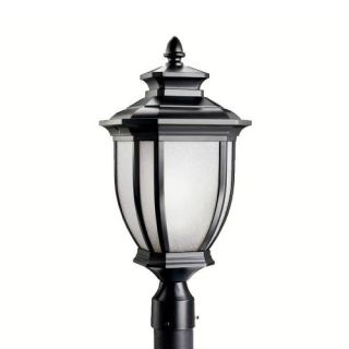 Kichler 9938BK Outdoor Light, Transitional Post Mount 1 Light Fixture Black (Painted)