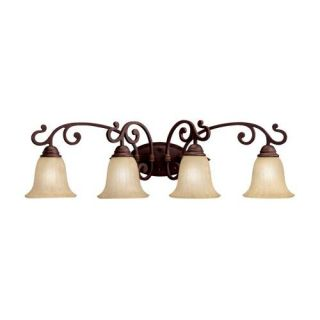 Kichler 5990CZ Bathroom Light, Transitional Bath 4Light Fixture Carre Bronze