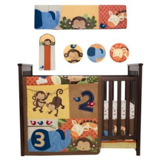 Kidsline Jungle 123 8 Piece Crib Bedding Set
