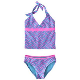 Xhilaration Girls 2 Piece Tankini Swimsuit   Multicolor XS
