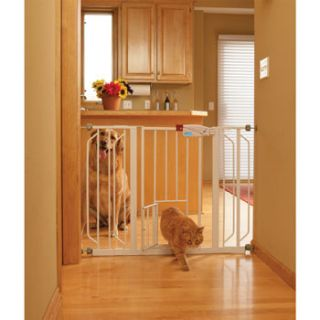 Extra Wide Expandable Gate with Small Pet Door