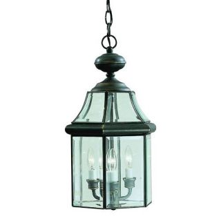 Kichler 9885OZ Outdoor Light, Classic (Formal Traditional) Pendant 3 Light Fixture Olde Bronze