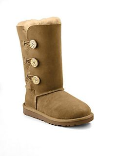 UGG Australia Kids Bailey Button Sheepskin Boots