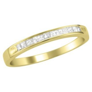 1/4 CT.T.W. Ring Band 14K Yellow Gold   Size 6