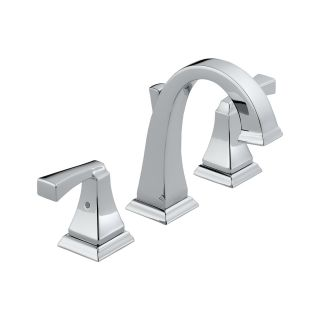 Delta 3551LF Bathroom Faucet, Dryden TwoHandle Widespread Lead Free Chrome
