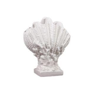 Urban Trends Collection White Ceramic Seashell (CeramicDimensions 12.13 inches x 6.57 inches x 14.57 inches high UPC 877101400066For Decorative purposes only)