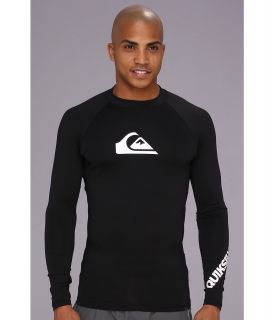 Quiksilver All Time L/S Surf Shirt AQYWR00035 Mens Swimwear (Black)