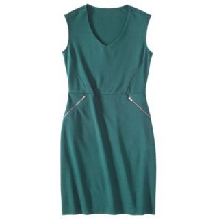 Mossimo Womens Ponte Sleeveless Dress w/ Zippered Pockets   Seaside Teal S