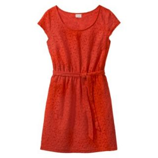 Merona Womens Lace Sheath Dress   Orange Zing   XS