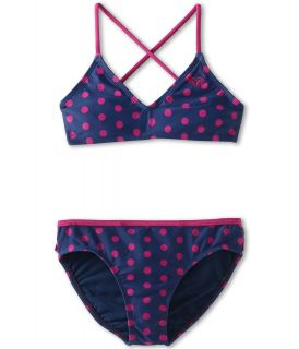 Roxy Kids Criss Cross Tri Set Girls Swimwear Sets (Purple)