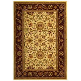 Lyndhurst Collection Majestic Ivory/ Red Rug (9 X 12)