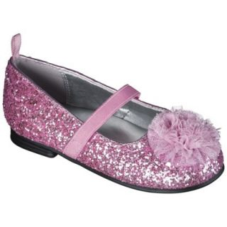 Toddler Girls Genuine Kids from OshKosh Glitter Ballet Flats   Pink 7