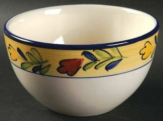 Pfaltzgraff Early Bird Soup/Cereal Bowl, Fine China Dinnerware   Floral Rim,Roos