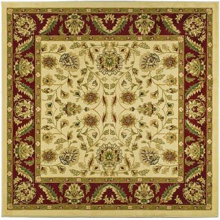 Lyndhurst Collection Tabriz Ivory/ Red Rug (8 Square)