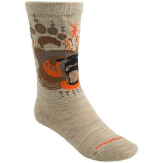 SmartWool Wintersport Bear Ski Socks   Merino Wool  Over the Calf (For Kids and Youth)   NAVY (S )