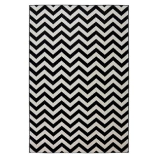 Mohawk Home Chevron Indoor/Outdoor Rug   Black (8x10)