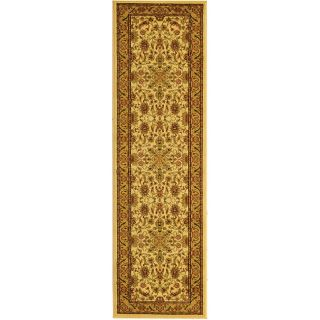 Lyndhurst Collection Ohsak Ivory/ Tan Rug (23 X 16)
