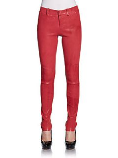 Carin Leather Pants   Acid Blush
