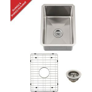 Schon SCRASB152016 Luxury Heavy Duty 16 Gauge 304 Stainless Steel Bar Sink