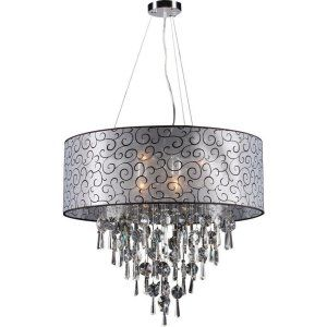 PLC Lighting PLC 73088 PC Alice 6 Light Pendant Alice Collection