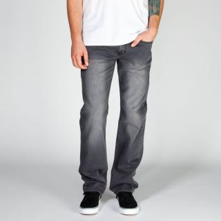 New York Mens Slim Straight Jeans Grey Overdye In Sizes 34X32, 28X30, 33X30
