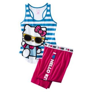 Hello Kitty Juniors PJ Set   Blue S(3 5)