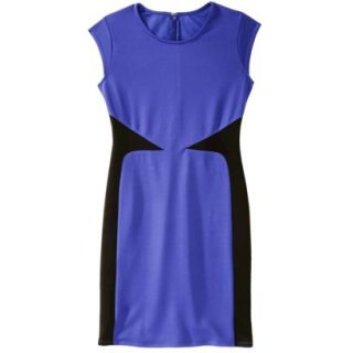Mossimo Womens Colorblock Scuba Dress   Blue XS