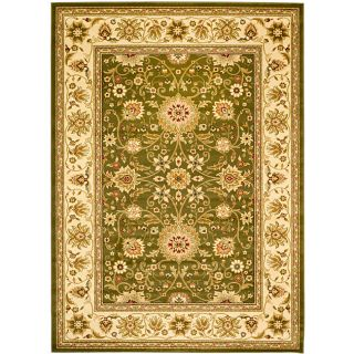 Lyndhurst Collection Majestic Sage/ Ivory Rug (6 X 9) (GreenPattern OrientalStyle TraditionalMeasures 0.375 inch thickTip We recommend the use of a non skid pad to keep the rug in place on smooth surfaces.All rug sizes are approximate. Due to the diffe