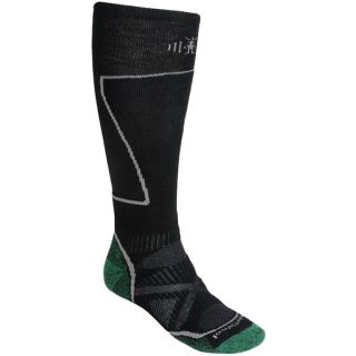 SmartWool PhD Ski Socks   Merino Wool (For Men and Women)   PESTO (XL )