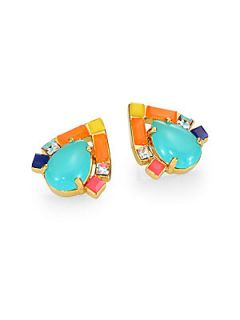 Kate Spade New York Multi Stone Button Earrings