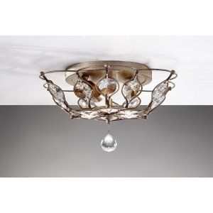Feiss FEI FM374BUS Leila 2   Light Indoor Semi Flush Mount