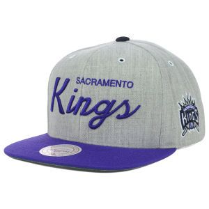Sacramento Kings Mitchell and Ness NBA Special Script Road Snapback Cap