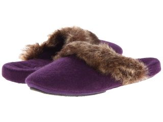 Acorn Cashmere Fur Trim Mule Womens Slippers (Pink)