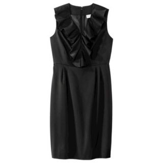 Merona Petites Sleeveless Sheath Dress   Black 16P