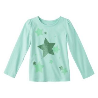 Circo Infant Toddler Girls Long sleeve Graphic Tee   Sea Foam 5T