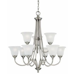 Thomas Lighting THO SL880241 Harmony Chandelier Satin Pewter 9x60W