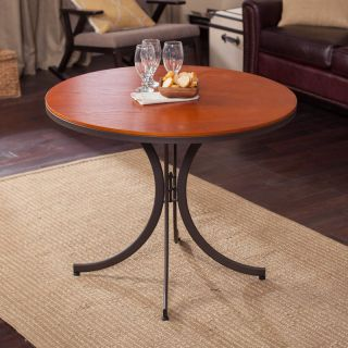 Meco Innobella Destiny 36 in. Round Wood Folding Table   Mission Rosso