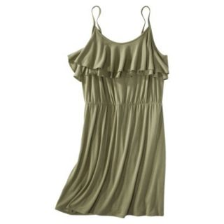 Mossimo Supply Co. Juniors Plus Size Sleeveless Ruffle Front Dress   Green 4