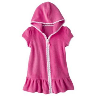 Circo Infant Toddler Girls Hooded Cover Up Dress   Pink 9 M