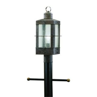 Kichler 9979OB Outdoor Light, Lodge/Country/Rustic/Garden Post Mount 1 Light Fixture Olde Brick
