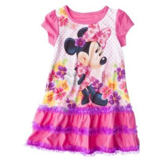 Disney Minnie Mouse Toddler Girls Nightgown   Pink 4T