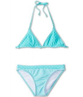 Roxy Kids Doll Face Tiki Tri Set Girls Swimwear Sets (Blue)