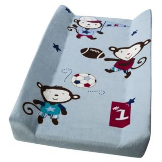 Summer Infant Team Monkey Changing Pad Cover   Blue