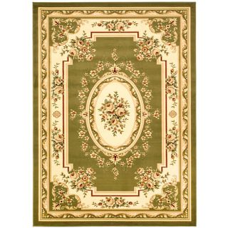 Lyndhurst Collection Sage/ivory Polypropylene Rug (53 X 76)