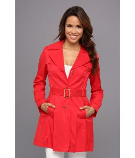 Kenneth Cole New York Trench Coat Womens Coat (Coral)