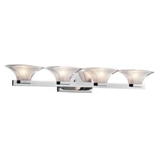 Kichler 45039CH Bathroom Light, Transitional Bath 4Light Fixture Chrome