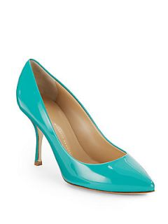 Patent Point Toe Pumps   Turqoise