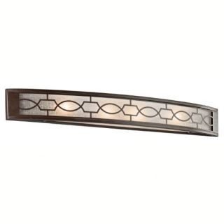 Kichler 45353MIZ Bathroom Light, Transitional Bath 4Light Fixture Mission Bronze