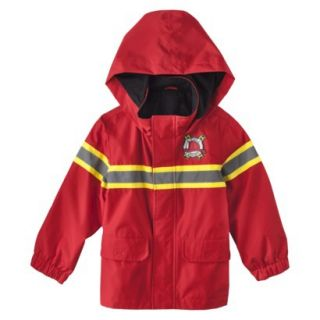 Just One You by Carters Infant Toddler Boys Fire Rescue Raincoat   Red 18 M