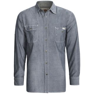 Dakota Grizzly Nelson Vintage Work Shirt   Slub Chambray Cotton  Long Sleeve (For Men)   STEEL (2XL )